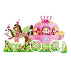 【法國 Janod】地板大拼圖-公主與馬車39pcs