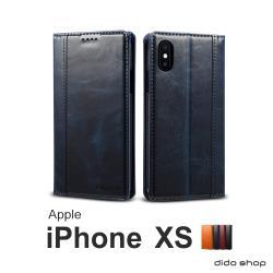 iPhone Xs 5.8吋 簡約系列可插卡翻蓋手機皮套 (FS068)