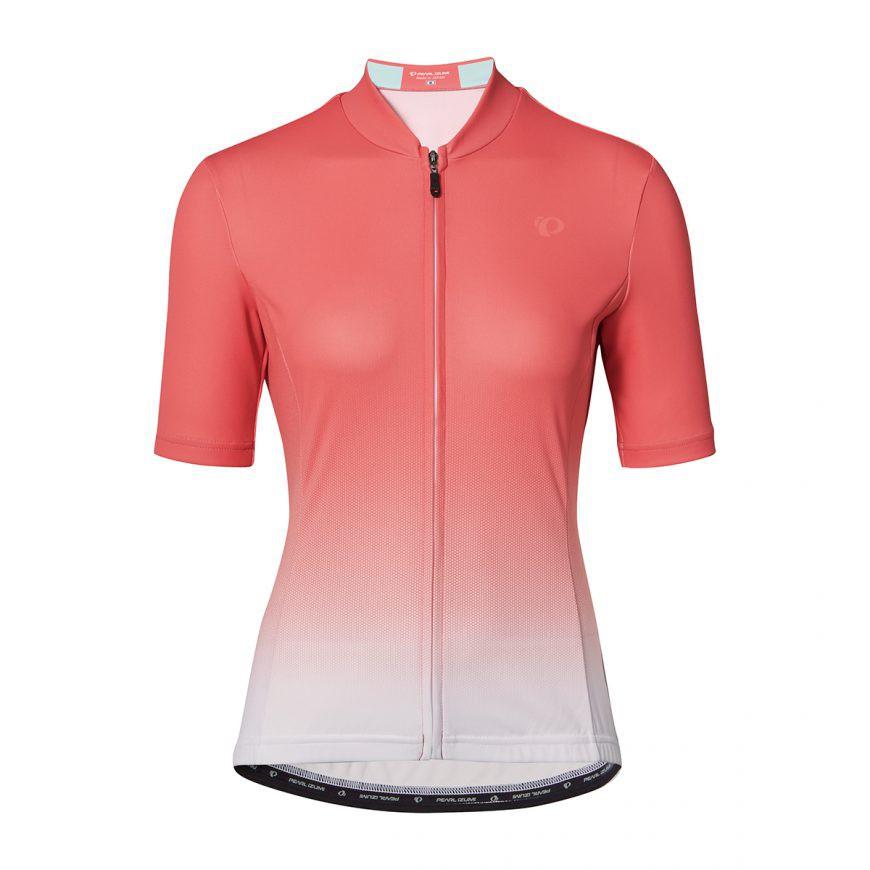 PEARL IZUMI W621-B-22 專業級合身女性短袖車衣(橘/漸層白)【7號公園自行車】