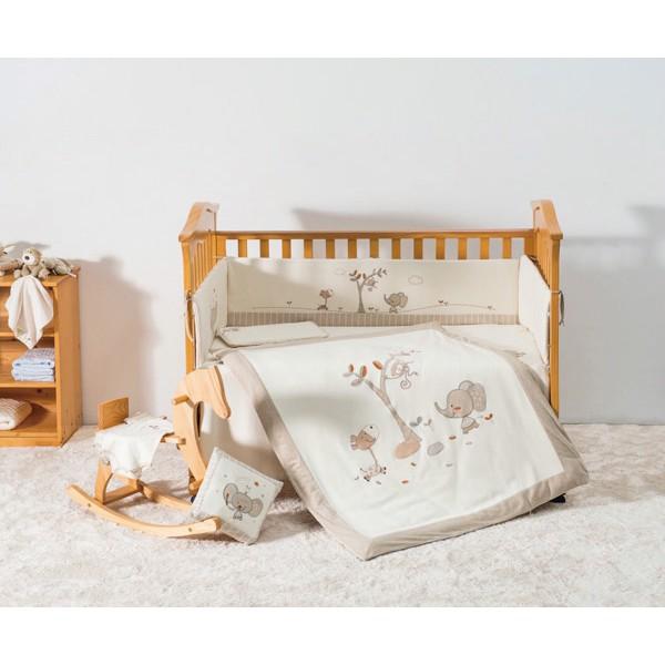 【麗兒采家】喬依思 La joie 7件式有機綿寢具組-大象