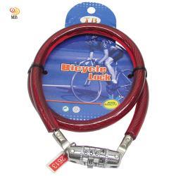 月陽11mm粗70cm長自行車鎖鋼纜鎖密碼鎖(1270)