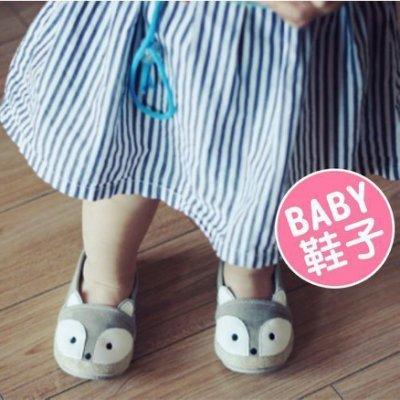 八號倉庫  秋季童鞋 男女童鞋 新款帆布鞋 寶寶卡通狐狸 軟底鞋 嬰兒鞋 學步鞋【2E241E222】