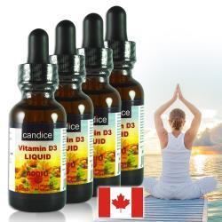 【Candice】康迪斯維生素D3滴液(30毫升*4瓶)Vitamin D3,維他命D3