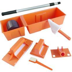 台製DIY簡易油漆刷具7件組(含伸縮桿)
