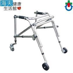 【海夫健康生活館】姿勢控制型 萬向輪 煞車輪 鋁製 助行器(IC2205)