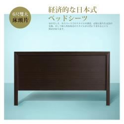 IHouse-經濟型日式素面床頭片-雙大6尺
