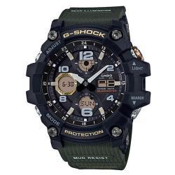 【CASIO】G-SHOCK 防塵防污高效能太陽能錶-綠(GSG-100-1A3)