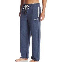 【Kenneth Cole】2017男舒適針織側縫袋對比禮藍色長睡褲(預購)