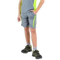 【聖伯納 St.Bonalt】撞色涼感速乾運動短褲 - 童款 2033K (灰螢光綠/藏青螢光綠/灰螢光粉)
