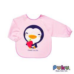 任-PUKU藍色企鵝 長袖圍兜M(粉色)