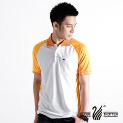 【遊遍天下】男款吸濕排汗抗UV機能POLO衫NS004(桔)