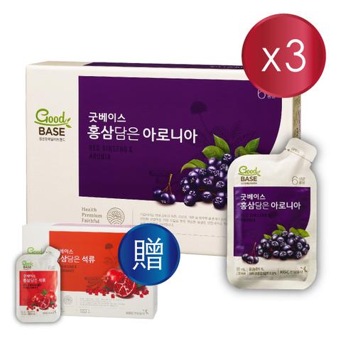 正官庄 高麗蔘野櫻莓飲30入_買3送1(高麗蔘石榴美妍飲30入)