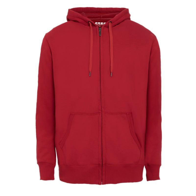 【ERSS】基保暖刷毛連帽外套 - 男 深紅 銀灰 黑灰 K60020