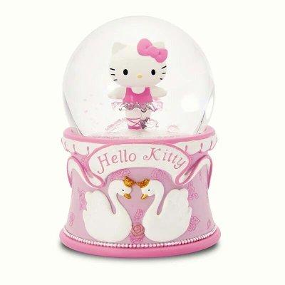 限時特價 JARLL讚爾hello kitty芭蕾舞音樂盒 音樂鈴 水晶球 雪球擺飾