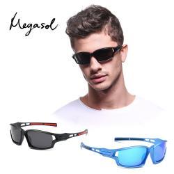 【MEGASOL】UV400專業運動偏光太陽眼鏡男女適用(運動/戶外/休閒S9308-三色可選)
