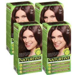 NATURTINT赫本染髮劑 5N淺棕黑色(4盒組)