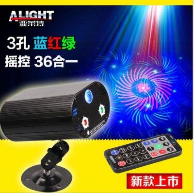 遙控3孔36圖LED+雷射激光舞台燈 聲控雷射燈光 可調模式設定 適用KTV.酒吧.舞廳.各式場所氣氛燈 by 我型我色