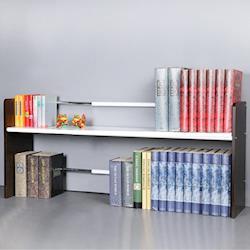 Homelike時尚伸縮式桌上書架(2色)