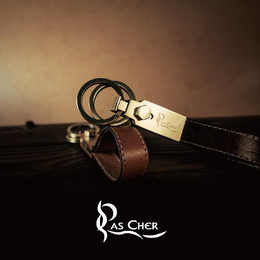 【PAS CHER 巴夏喀】典藏雙環鑰匙圈 -《手工真皮吊飾》