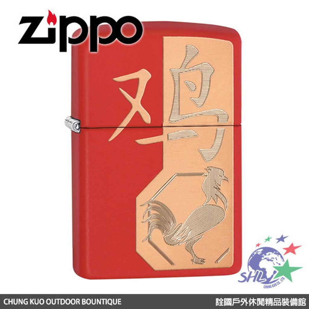Zippo 防風打火機 Year of the Rooster雞年紀念版 / ZP526 / 29259 【詮國】