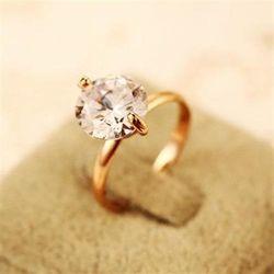 【米蘭精品】玫瑰金戒指鑲鑽銀飾時尚韓系高貴流行73by25