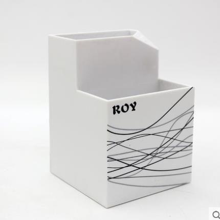 筆筒 多功能收納筆座辦公文具盒子男女歐式復古桌面上可愛擺設彩色塑料格調 名創家居館