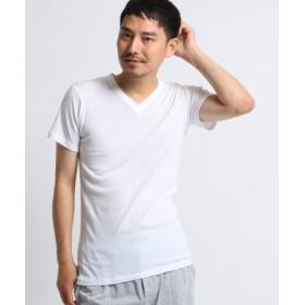 (TAKEO KIKUCHI/タケオキクチ)◆【 日本製 】 プレミアムコットンインナーVネックTシャツ/メンズ ホワイト(004)