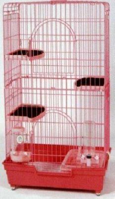 e世代皇冠2.5尺四層精緻貓籠4層貓屋846貓籠全配附三層跳板+自動飲水器+餵食器+貓砂盆+砂鏟+滾輪