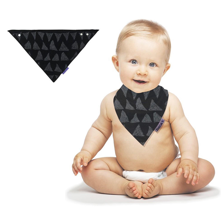 荷蘭 DOOKY - 寶寶純棉口水巾/圍兜-異國蒙黑
