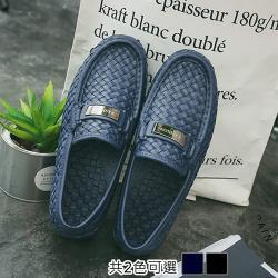 Alice (預購) 編織防滑男用雨靴防水二用雨鞋