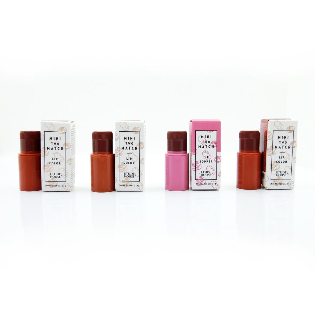 韓國 ETUDE HOUSE MINI TWO MATCH 磁鐵吸式口紅/ 雙色混搭百變唇膏 6色任選