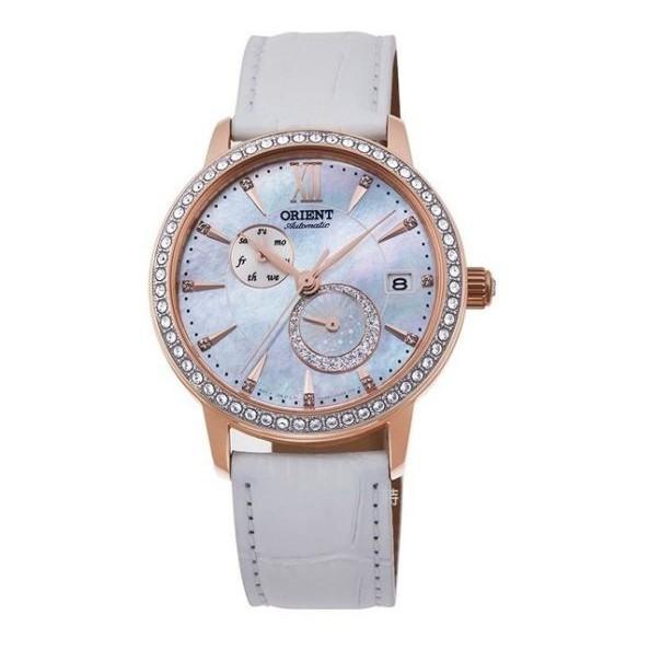 ORIENT 東方 經典機械錶 晶鑽 RA-AK0004A 珍珠白