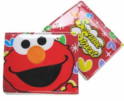 【卡漫迷】 出清特價 Elmo 二折 皮夾 ㊣版 Sesame Street 芝麻街 磁扣式 短夾 證件夾 零錢包