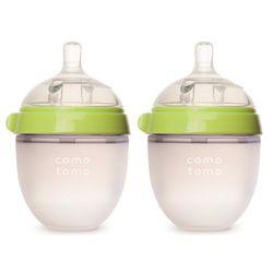 美國comotomo 矽膠奶瓶 二入150ML-綠150TG-EN