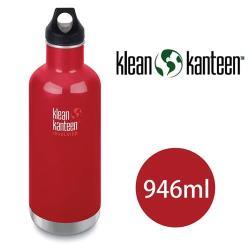美國Klean Kanteen 窄口不鏽鋼保溫瓶 946ml 寶石紅
