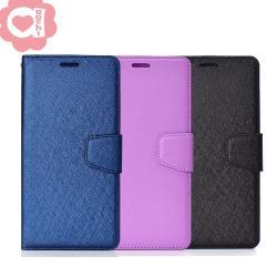 Samsung Galaxy J4+ 6吋 月詩時尚皮套 多層次插卡功能 蠶絲紋特殊處理  防刮耐磨 側掀磁扣手機殼/保護套 藍紫黑多色可選