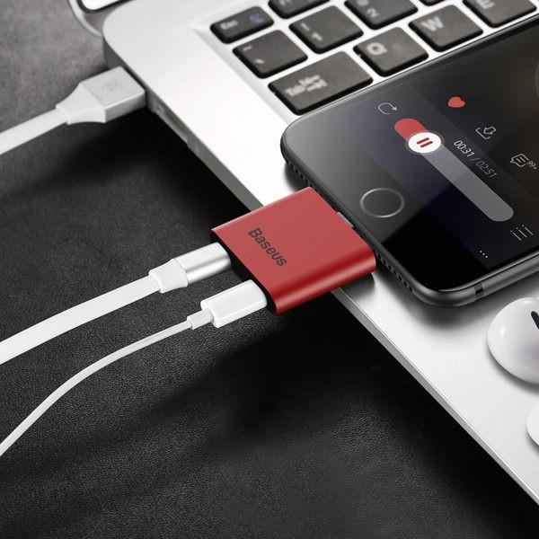Baseus倍思 L39 Apple 轉接頭 二合一接口 即插即用 充電 聽歌