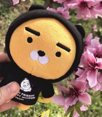 韓國 kakao friends超萌黑衣帽子款鬥篷獅子Ryan南俊同款毛絨公仔 10-19公分