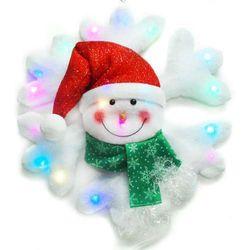 摩達客 聖誕LED燈25燈雪人雪花造型燈吊飾SCL-50(插電式-自動閃爍變換光色)