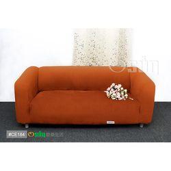Osun-一體成型防蹣彈性沙發套 厚棉絨溫暖柔順_4人座 香檳橘 CE-184