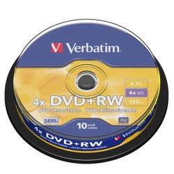 Verbatim 威寶 AZO 4X DVD+RW 4.7GB (10片)