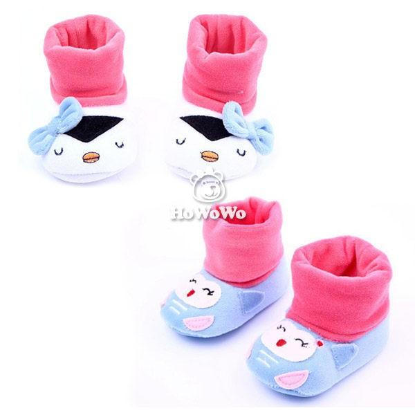 企鵝造型寶寶學步鞋 撞色絨面嬰兒鞋(11-13cm) MIY1453 好娃娃