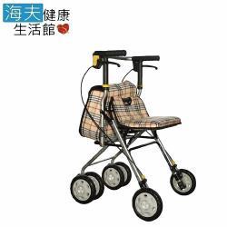 【建鵬 海夫】JP-731-1 有扶手 鋁合金 散步車 助行車 購物車