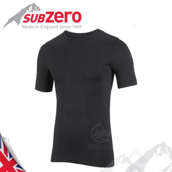【Sub Zero 英國 Factor1+ 短袖無縫排汗衣《黑》】Factor 1 PLUS/內層衣/運動衣//悠遊山水
