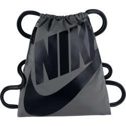 Nike 2018時尚大Logo標誌健身深灰色束口後背包