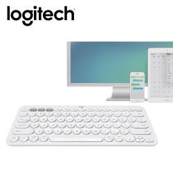 【Logitech 羅技】K380 多工藍芽鍵盤(珍珠白/中文)  【贈冬日暖暖貼】