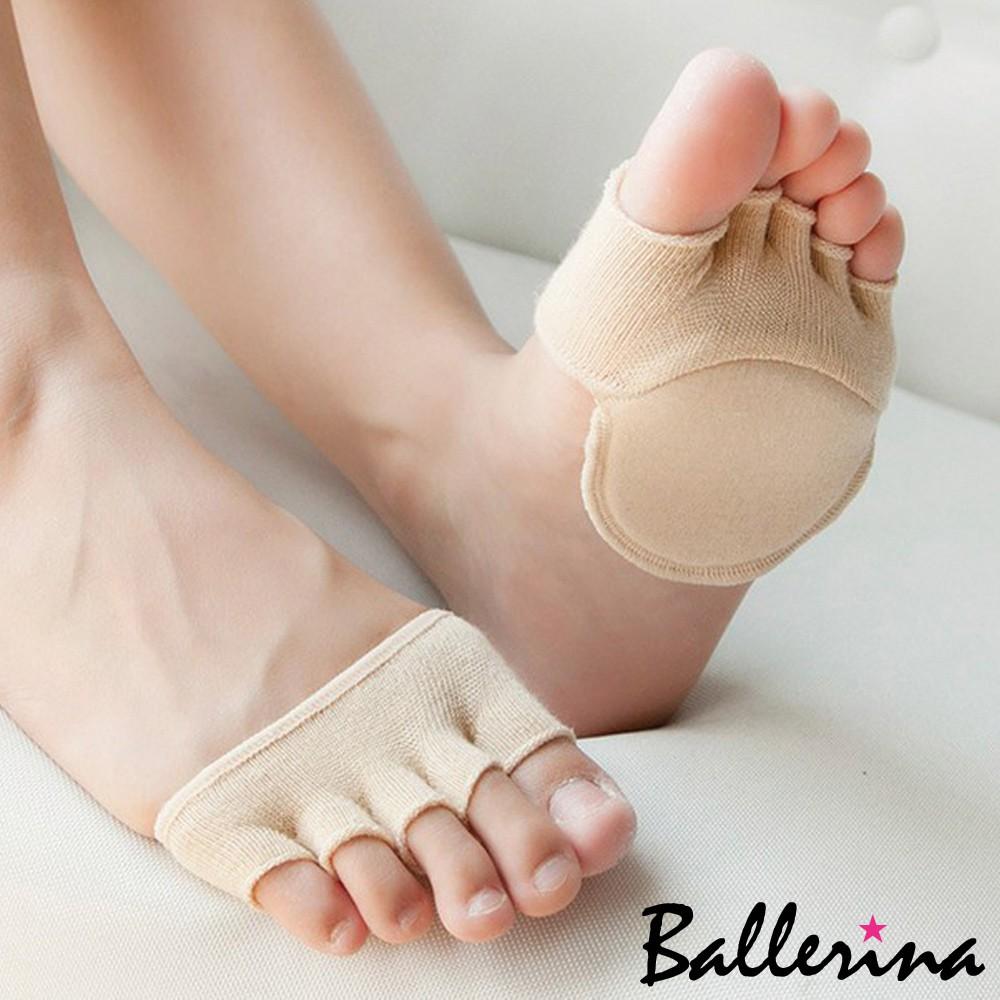 Ballerina-露趾五指前掌腳墊隱形襪套(1對入)