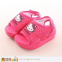 魔法Baby 寶寶鞋 Hello kitty授權正版女童涼鞋~sk0163