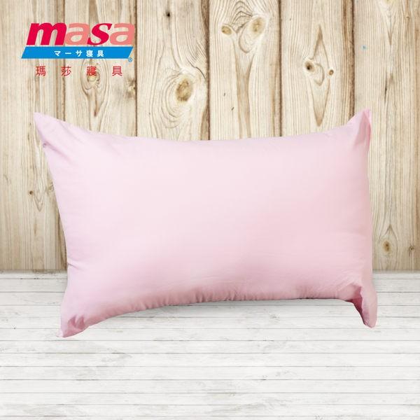 Masa 磨毛晶彩舒眠枕 粉 一顆 台灣製