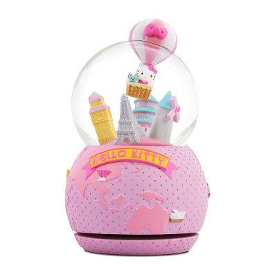 Hello Kitty 熱氣球音樂水晶球 環遊世界 水晶球音樂盒 送女友生日畢業禮物 免運費